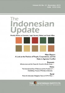 The Indonesian Update  Volume IX No 12 November 2015 (English)
