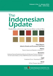 The Indonesian Update - Volume X, No. 2 - January  2016