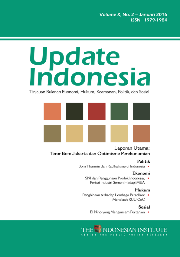 Update Indonesia Volume X, No. 2 Januari 2016