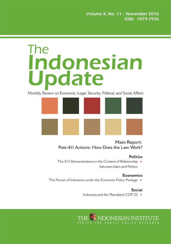 The Indonesian Update – Volume X, No. 11 November 2016 (English Version)