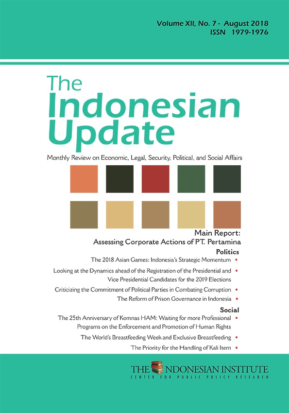 The Indonesian Update – Volume XII,No. 7- August 2018 (English Version)