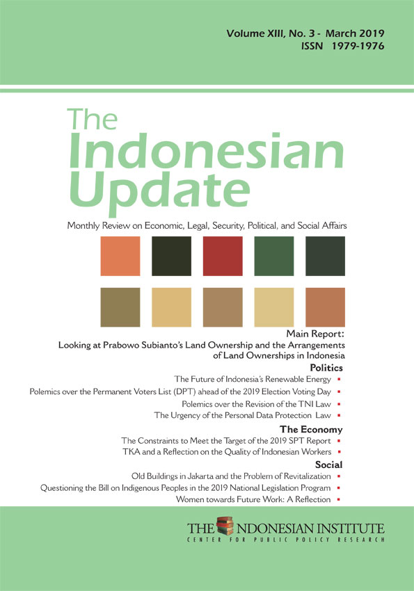 The Indonesian Update – Vol. XIII, No. 3 – March 2019 (English Version)