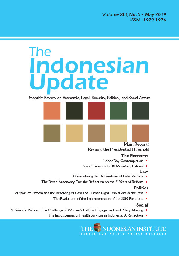 The Indonesian Update — Volume XIII, No.5 – May 2019 (English Version)