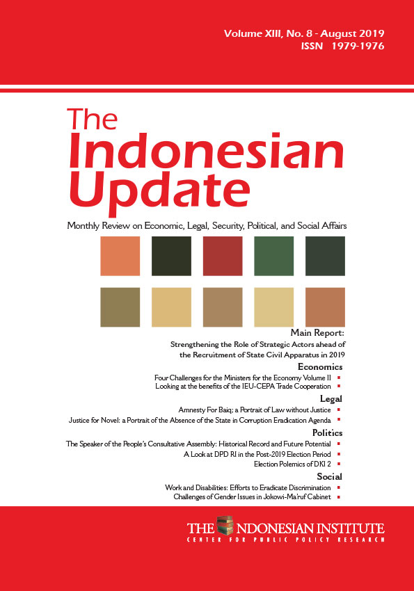 The Indonesian Update — Volume XIII, No.8 – August 2019